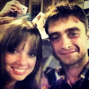 KU Student, Sally Carmichael, met Harry Potter err... Daniel Radcliffe during her time in London