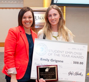 Emily Grigone named Student Employee of the Year