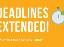 Study Abroad Deadlines Extended!